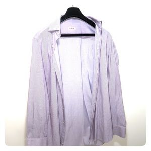 Purple ISAIA Napoli Men's Dress Shirt Sz 16 1/2/42